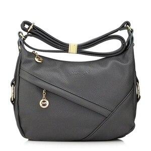 Image 2 - High Quality Retro Vintage Womens Genuine Leather Handbag,Women Leather Handbags ,Women Messenger Shoulder Bags Bolsas Feminina