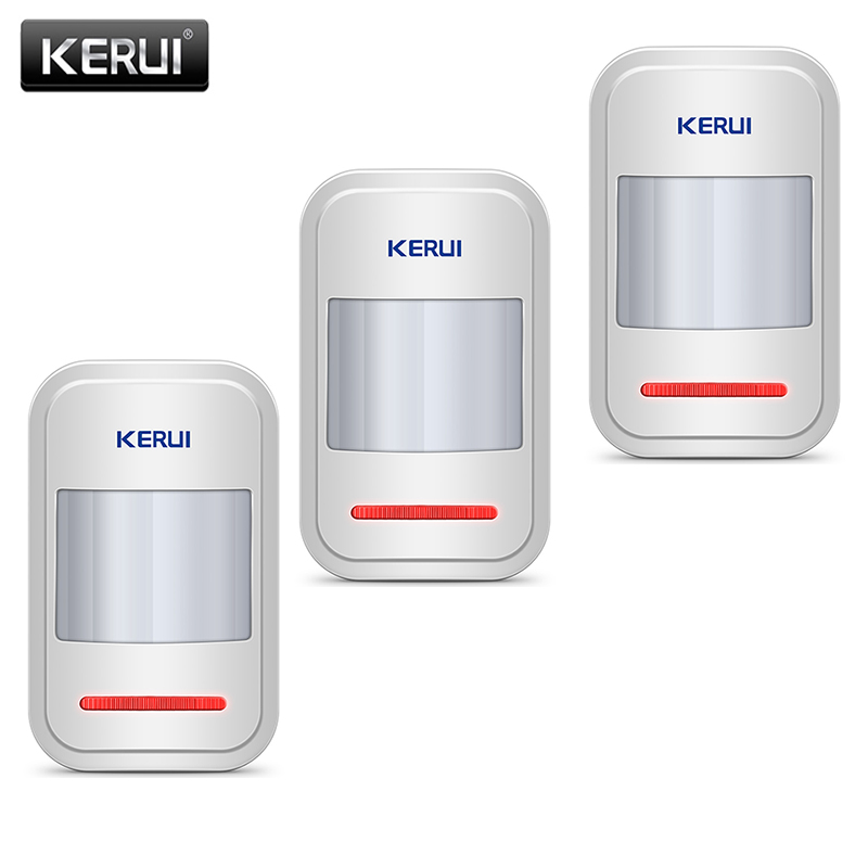 KERUI Home Alarm System Infrared PIR Sensor Is Used In GSM PSTN 3Pcs/lot Built-in Antenna Wireless PIR Motion Sensor Detector(China)