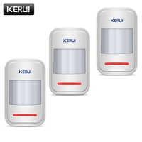 KERUI Home Alarm System Infrared PIR Sensor Is Used In GSM PSTN 3Pcs/lot Built-in Antenna Wireless PIR Motion Sensor Detector