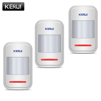 KERUI Motion Sensor Detector For GSM PSTN Home Alarm System Czujnik Ruchu 3Pcs/lot Garage Alarm Wireless Infrared PIR Sensor fuers 3pcs lot 433mhz wireless pir motion sensor built in antenna infrared alarm detector for gsm pstn home alarm system