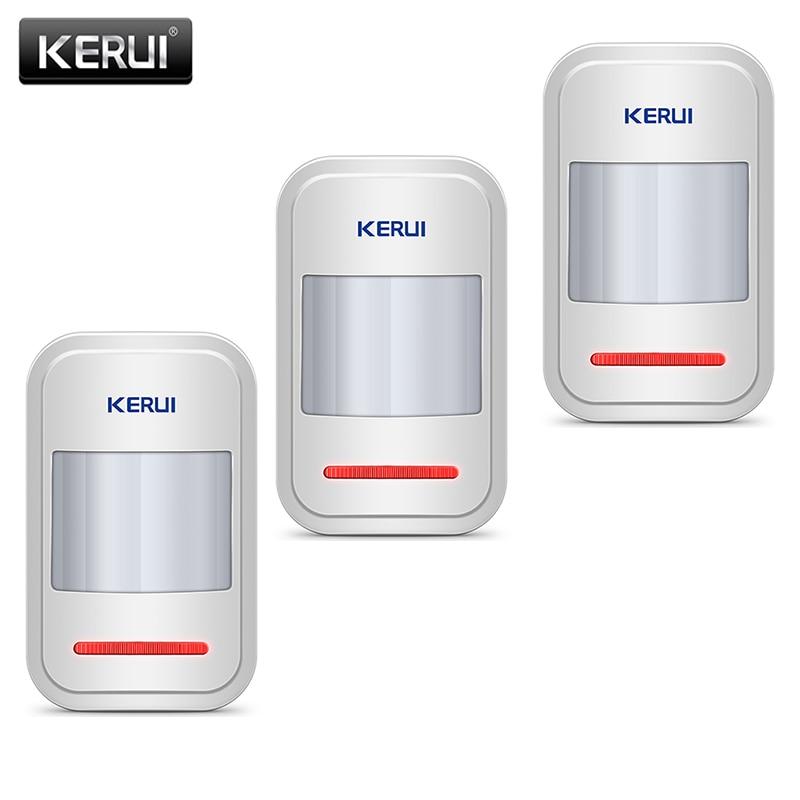 Kerui Sistem Alarm Rumah Infra Merah PIR Sensor Digunakan Di Jaringan GSM PSTN 3 Pcs/lot Built-In Antena Wireless PIR Sensor Gerak detektor