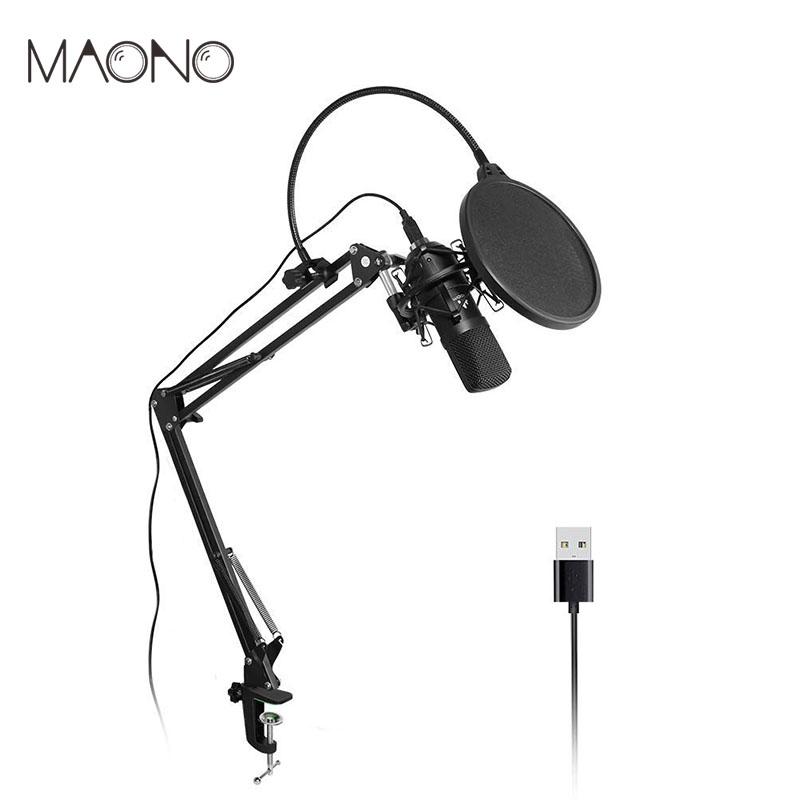 MAONO USB Microphone Kit Podcast Condenser Microphone Professional Studio Microphone for Laptop Skype YouTube Recording Mikrofon