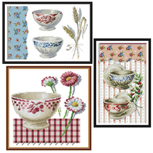 Joy Sunday,Porcelain,cross stitch embroidery set,printing cloth kit,needlework,DIY China kit