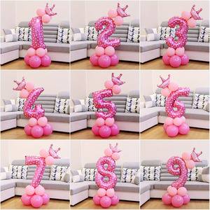 Image 4 - Pour premier anniversaire, décoration pour garçon et fille, décoration en or Rose, pour anniversaire, fournitures pour enfants et adultes, pour 1er an