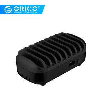 ORICO 10 Ports USB Charger Station With Holder For Mobile Phone Tablet 120W Output Max Intelligent Charger Bus