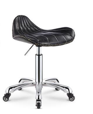 Купить с кэшбэком New work stool master stool beauty chair hairdressing  chair back stool personalized bar stool.