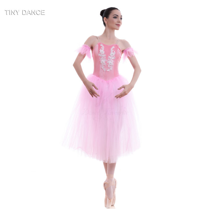 Adult Girls Pink Romantic Length Soft Tulle Ballet Dance ...