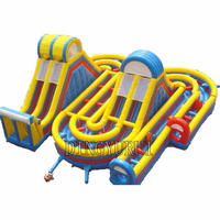 Children's outdoor playground Inflatable Obstacle Course for children inflatable bouncer with inflatable slide