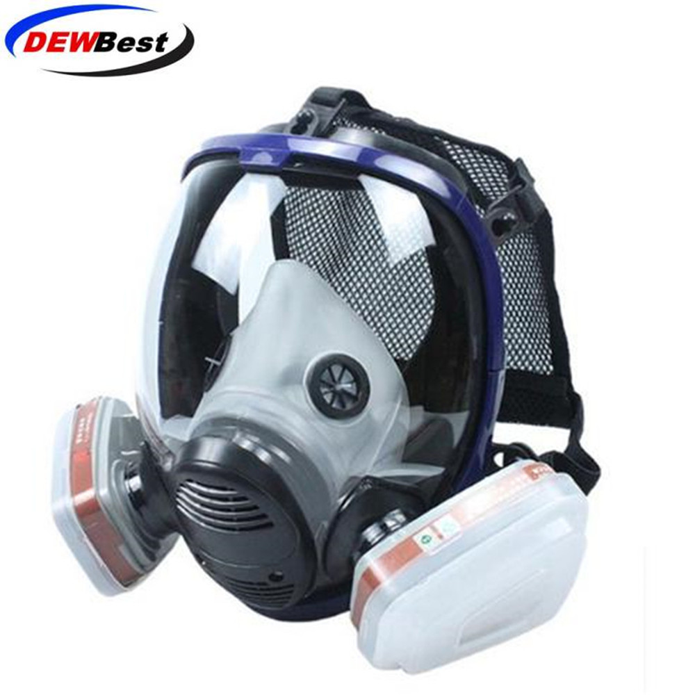 New Industrial 7 In 1 6800 Full Gas Mask Respirator With Filtering Cartridge For Painting Spraying