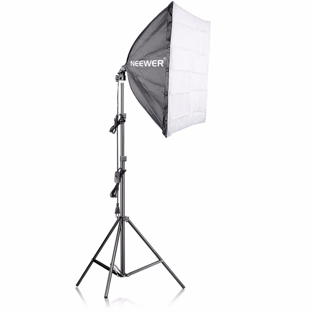 Neewer 400W Photography Softbox Light Lighting Kit for Photo Studio Portraits, Product and Video Shooting jinbei 250w photo studio strobe flash light softbox lighting kit with carrying bag for portrait product and video shoots no00dc