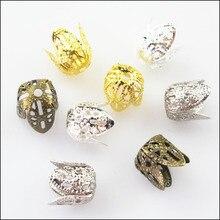 Новинка 40 шт. арахисовая Цветочная Накладка для бисера Разъемы 10×11 мм Золотой покрытый серебром, бронзой