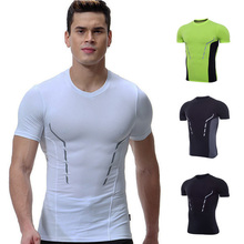 Quick Dry Compression Running Sports T shirt Short Sleeve Gym Mens Workout Shirt Crossfit Bodybuilding Fitness Athletic Shirts