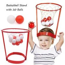 Children Toys Headband Basketball Hoop Set, 20 Balls Parent-child Interation, Outdoor Sports Preschool Toys Boys Girls Gifts