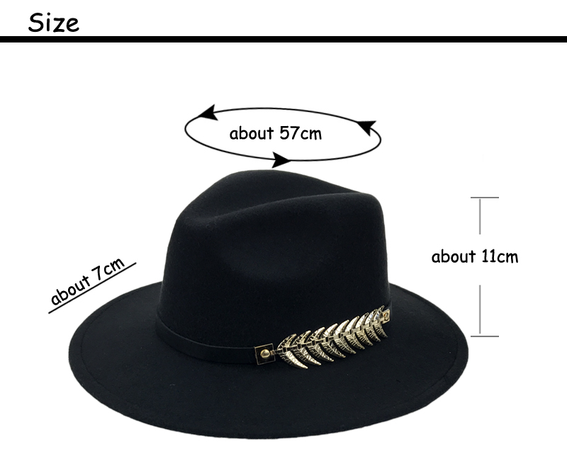 adjustable fedora cap