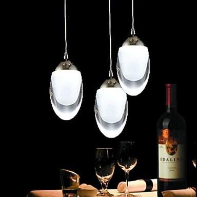 modern chandelier 3Wx3 LED Light Egg-Shaped Chandelier Light Pendant Lamp for dining room crystal chandelier Free shipping modern pendant crystal chandelier 110v 220v 28w pure white 71 60cm free shipping