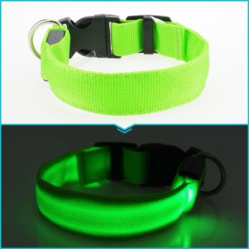 ⑥led Nylon Dog ᗐ Collar Collar Dog Cat Harness Flashing 웃