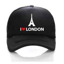 I LOVE LONDON adulto verano embroma los casquillos gorros niños Boy Snapback  sombreros Torre sombrero para de9b63a1226