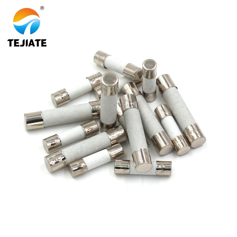 100Pcs 6x30 Slow Blow Time Delay Fuse 6mm x 30mm 250V 6A Slow Blow fuse Glass