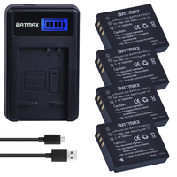4 pc 1500 mah CGA-S005E s005 DMW-BCC12 bateria + lcd carregador usb para panasonic lumix DMC-LX1 lx2 lx3 fx3 bcc12 para fuji NP-70 db60