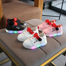 New infant tennis New brand printing LED lighted children sneakers hot sales casual cool baby kids shoes sports boys girls shoes