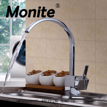 Solid Brass Kitchen Mixer Taps Cold and Hot Kitchen Tap Single Hole Water Tap Kitchen Faucet Deck Mounted