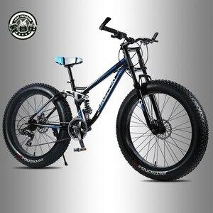 Image 3 - אהבת חופש גבוהה באיכות אופניים 21/24 מהירות אופני הרים 26 אינץ 4.0 שומן צמיג שלג אופני דיסק כפול הלם קליטה אופניים