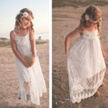 8 -14eyears INS Hot  Flower Girl Dress  Child Max White  Lace Beach Sling Flower Gauze Dress New Fancy Dresses for Baby Girl