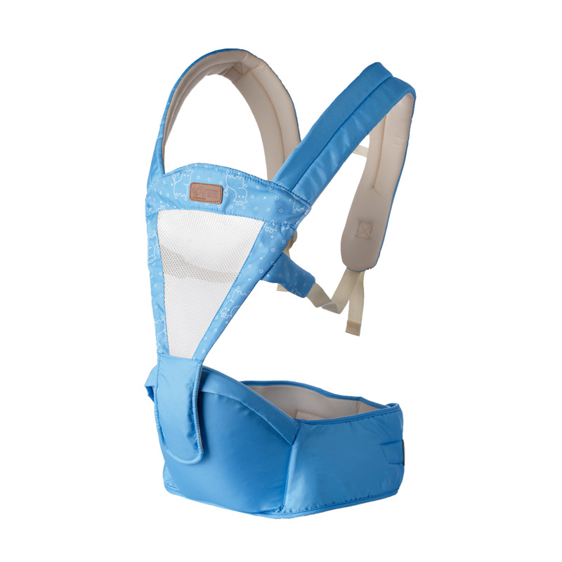 ФОТО Best Selling Fashion Baby Double Shoulder Belt Carrier Infant Hipseat Baby Sling Backpack Breathable Multifunctional Seat Belt