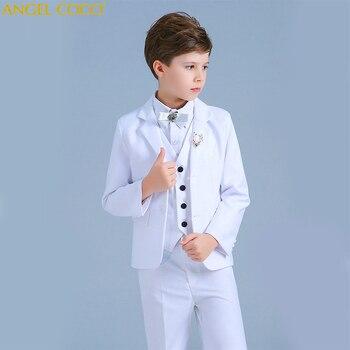 0427605c6 Trajes blancos para niños conjunto traje de Año Nuevo para niños ropa Blazer  para niños traje de Navidad para niños rupas infantiles niño Garcon