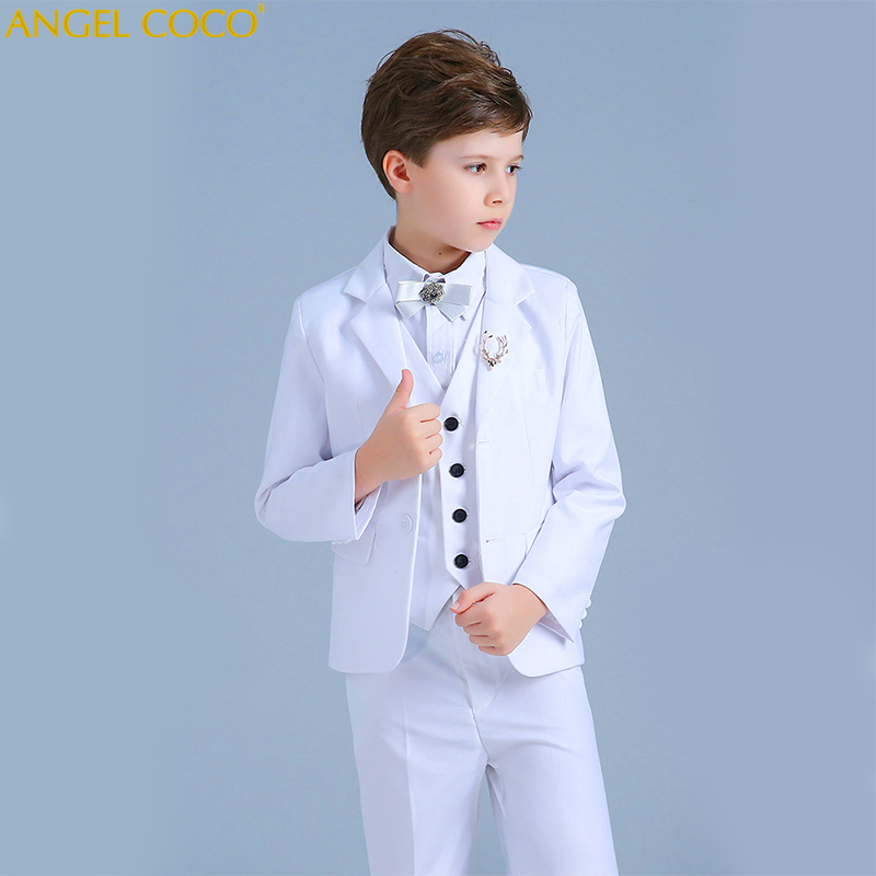 White Boys Suits Set New Years Suit For Boys Clothes Childrens Blazer Christmas Costume For Boys Roupas Infantis Menino GarconWhite Boys Suits Set New Years Suit For Boys Clothes Childrens Blazer Christmas Costume For Boys Roupas Infantis Menino Garcon