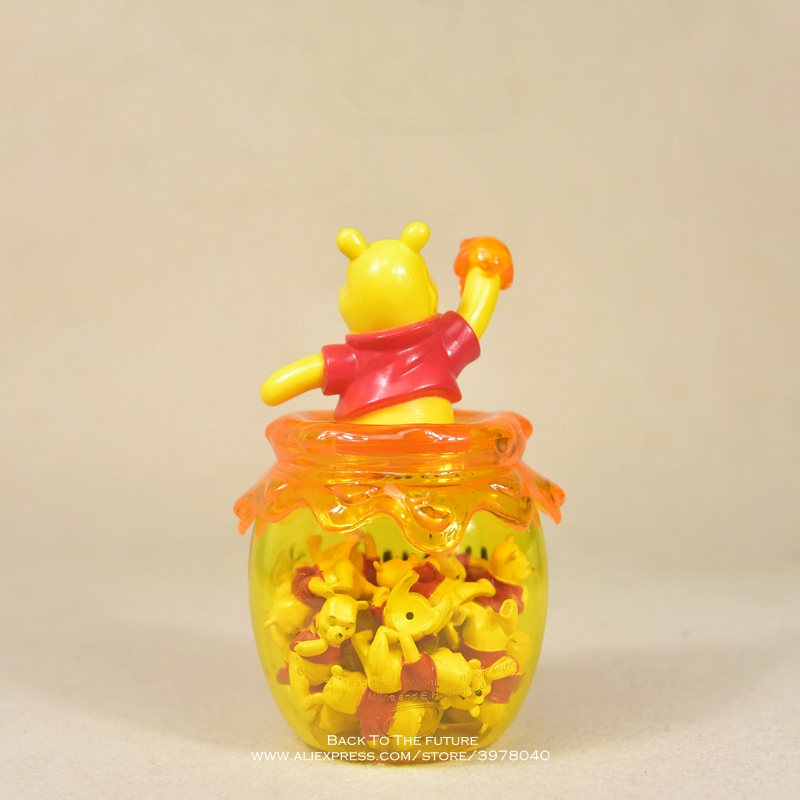 Image 3 - Disney Winnie the Pooh storage jar 16cm Action Figure Anime Decoration Collection Figurine mini doll Toy model for children giftAction & Toy Figures   -
