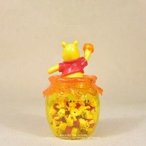 Image 3 - Figura de acción de the Pooh Winnie de Disney, tarro de almacenamiento de 16cm, colección de decoración de Anime, mini muñeca, modelo de juguete para niños, regalo