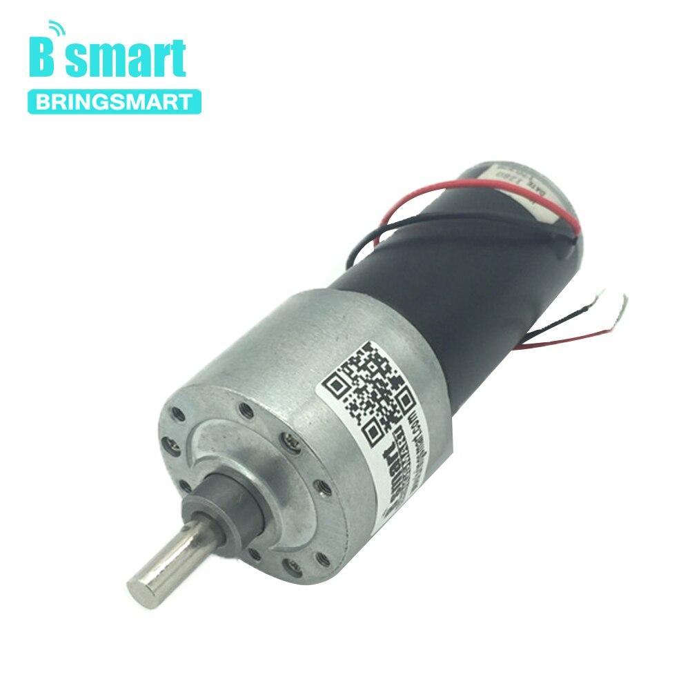 Bringsmart JGB37-3157 12 voltios CC engranaje reductor para Motor de baja velocidad de alto par Reversible 24V CC reducción motorreductor