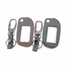 A91 100% Leder Schlüssel Fall Abdeckung für Starline Russische Auto Alarm A91 A61 B9 B91 A91 Folding Auto Flip Fob zwei Weg Auto Alarm System