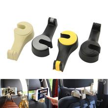 Universal Car Seat Back Hook Bag Hanger Phone Holder Organizer Headrest Mount Storage Hooks Clip
