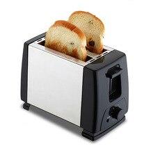 Тостер из нержавеющей стали с 2 ломтиками, Автоматический быстрый нагрев, тостер для хлеба, бытовой, для завтрака, Sonifer