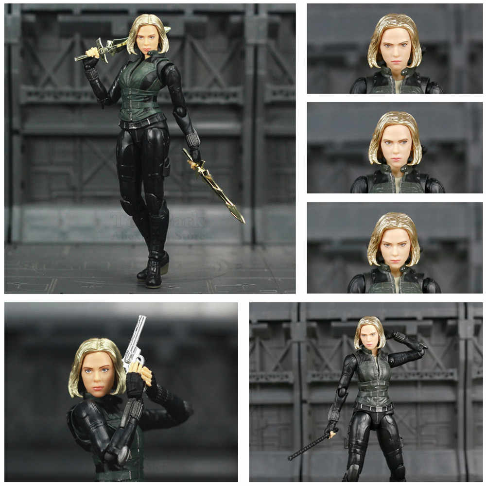 "Infinito Guerra Marvel Avengers Black Widow 6 ""Movie Action Figure Endgame Scarlett Johansson Lendas Boneca KO SHF Brinquedos"