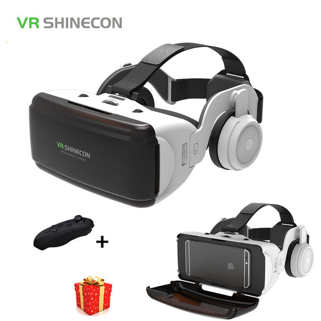 9dd121e2dd74 Casque Shinecon Helmet 3D VR Glasses Virtual Reality Lens For Smartphone  Smart Phone Google Cardboard Headset Goggles 3 D Gaming