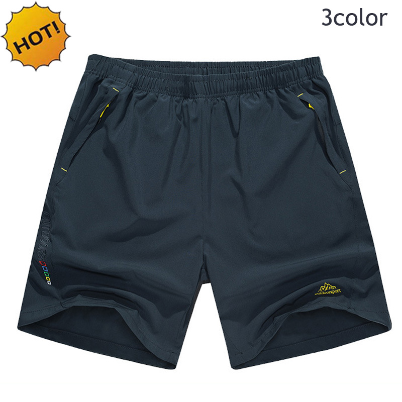 Men's Clothing Summer Sport Running Gym Men Loose Elastic Waist Outdoor Men Quick Dry Ultra-light Zipper Pocket Embroidery Army Shorts Men