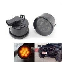 Front Fender Smoked LED Turn Signal Side Marker Parking Light For Jeep Wrangler LED Side Marker Lamp Car Light Black