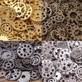 Comercio al por mayor 50 unids engranajes steampunk de la vendimia de los encantos colgante de bronce antiguo fit collar de las pulseras diy metal fabricación de joyas