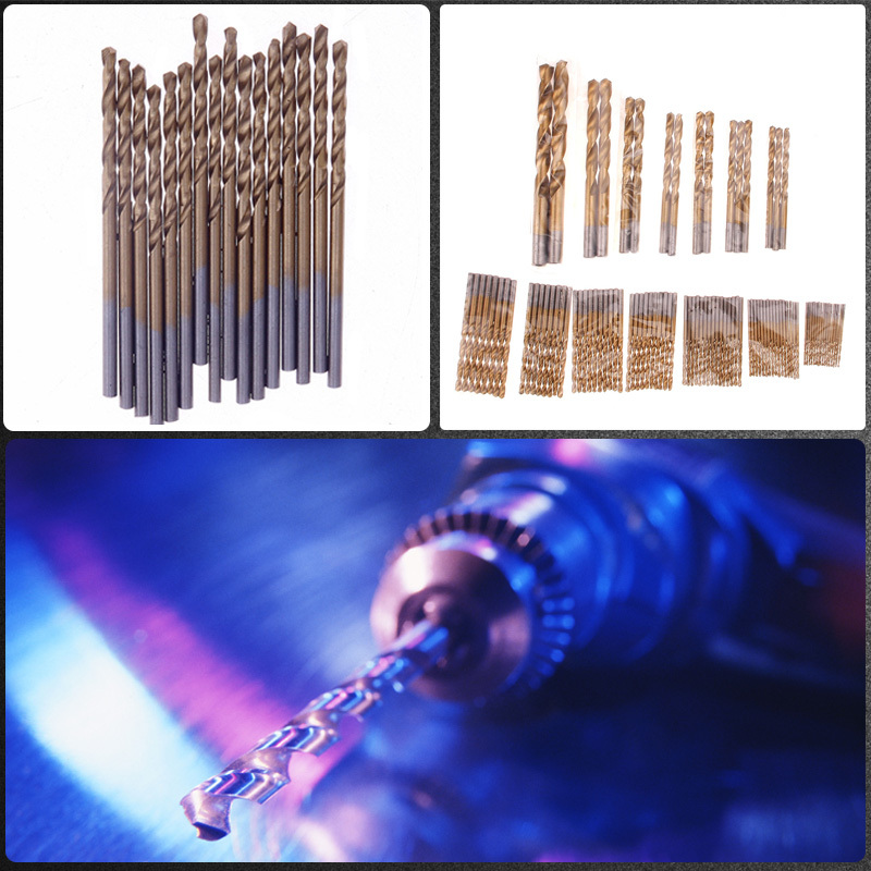 ФОТО G High Quality Titanium Coated 1.5-10mm Straight Shank Twist Auger HSS Drill Bits Tool 99Pcs #71778 T
