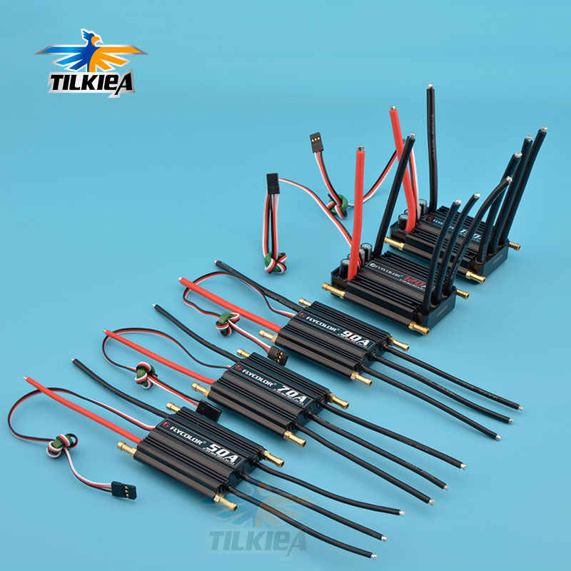 RC Boat Brushless Motor ESC 50A 70A 90A 120A 150A Brushless ESC SPEED CONTROLLER สนับสนุน 2-6S Lipo BEC 5.5 V/5A สำหรับ RC เรือ