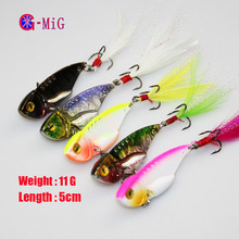 MiG 3G / 8G / 10G //11 G Flying Paillette Lure Metal Hard Bait Fishing Lure Vib Cheapest China Fishing Tackles Supplies