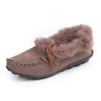 النساء أحذية الشتاء الفراء اصطف الشتاء شق حذاء امرأة دافئة النساء المتسكعون الاخفاف الأحذية الثلوج في زائد الحجم