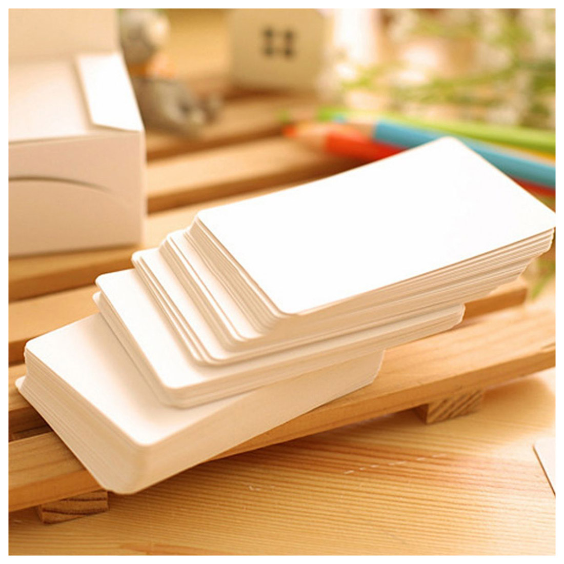 100 Blank Kraft Paper Hang Tags Wedding Party Favor Label Price Gift Cards White