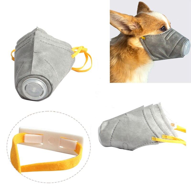 Activo 3 Unids/set Perro Máscara Pm2.5 Filtro Anti-polvo Máscara Protectora Cubierta De La Boca Para Al Aire Libre Suministros Para Perros Xhc88 Bonita Y Colorida