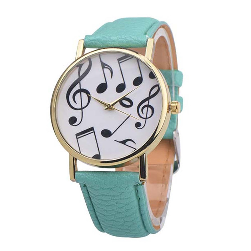 1PC Casual Musical Notes Women Men watch Leather Band Analog Quartz Dial Wrist fashion Watch relogio feminino Dropshipping NMB23 watch men leather band analog alloy quartz wrist watch relogio masculino hot sale dropshipping free shipping nf40