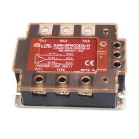 SSR 3PH10DA H 2pcs LED Three Phase AC Solid State Relay 10A 220V Output:90 480VAC DC to AC SSR Relay Input: 5V 12V 24V Relay