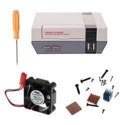 Новый мини ne NESPI Ретро случае PCB с Вентилятор охлаждения радиаторы для Raspberry Pi 3/2/B + C26